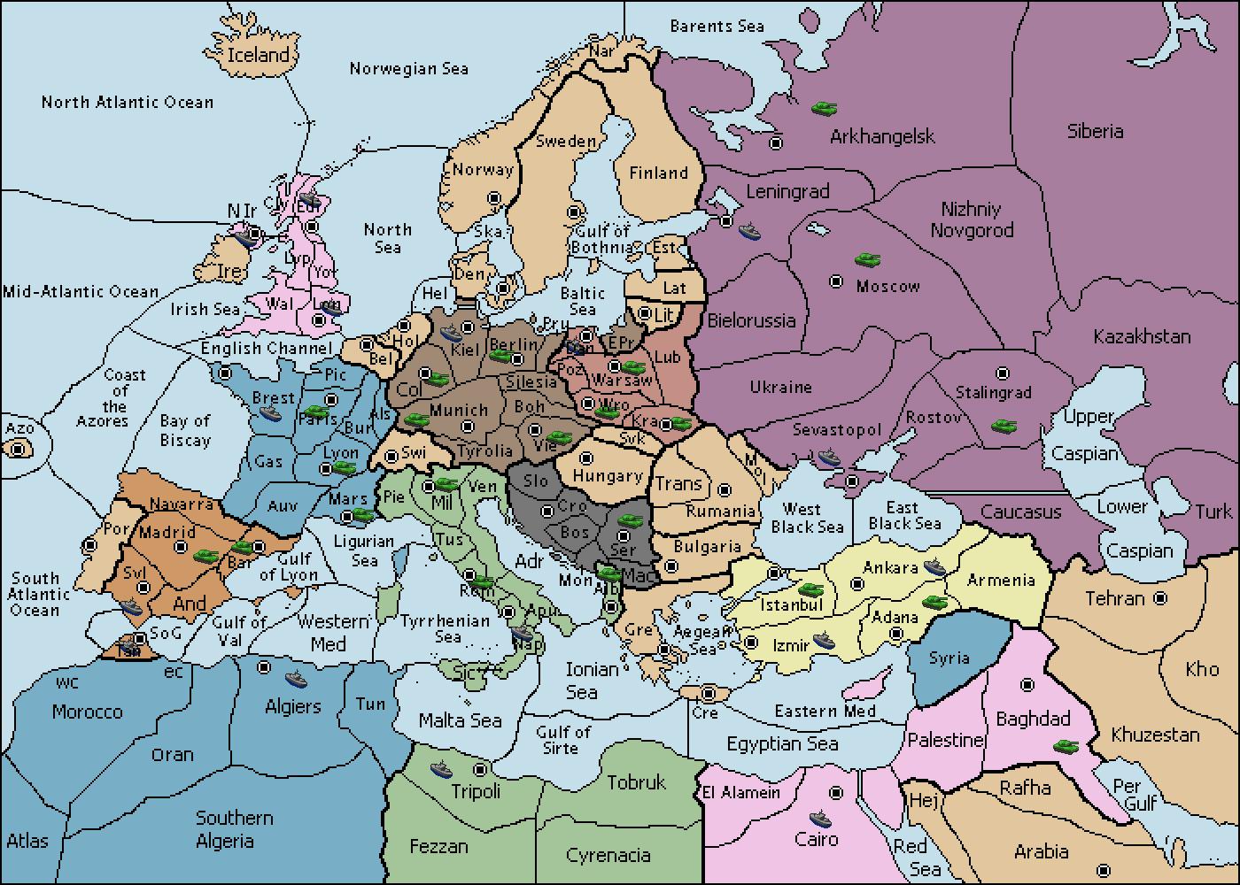 Variants vDiplomacy